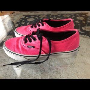 Vans, Off The Wall Pink Sneakers, Women's 7.5, EUC